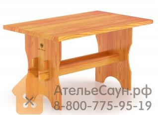 Стол для бани BentWood из лиственницы 1,30 х 0,80 м H = 0,75 м
