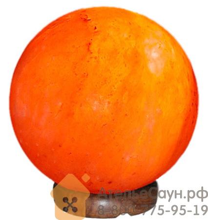 Соляная лампа в форме шара 15 см 3.6 кг (розовая гималайская соль, арт. S2)
