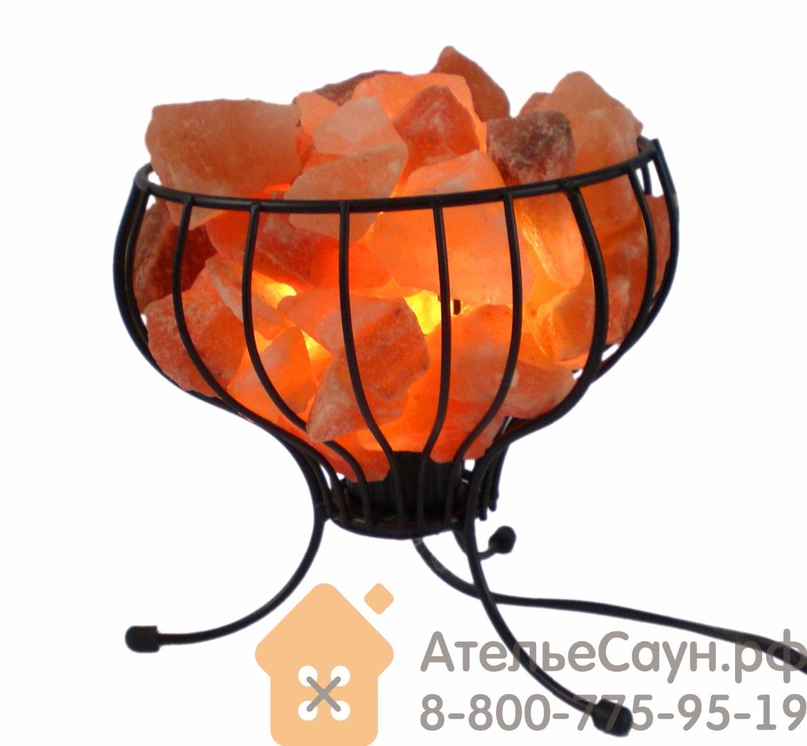 Соляная лампа  в форме корзины (розовая гималайская соль, арт. KL1E)