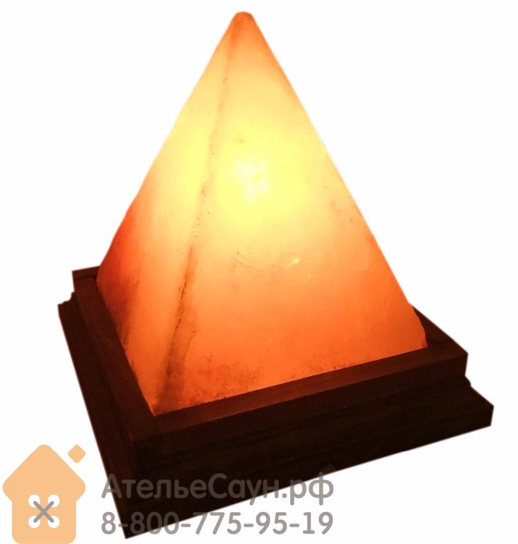 Соляная лампа Пирамида 127х127х152 мм (розовая гималайская соль, арт. PY)