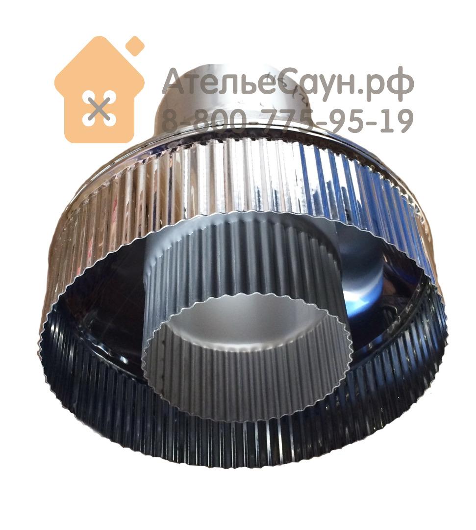 Заглушка стартовый переходник 115/215 (нерж. 0,8 мм AISI 304 / 0,5 AISI 430)