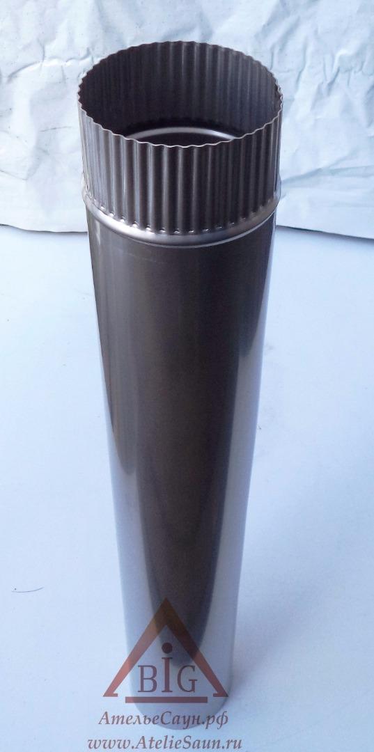 Труба голая D120 мм L = 0,75 м (нерж. 0,8 мм AISI 304)