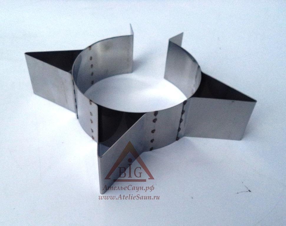 Хомут узкий усиленный D120 мм (нерж. 0,5 AISI 304)