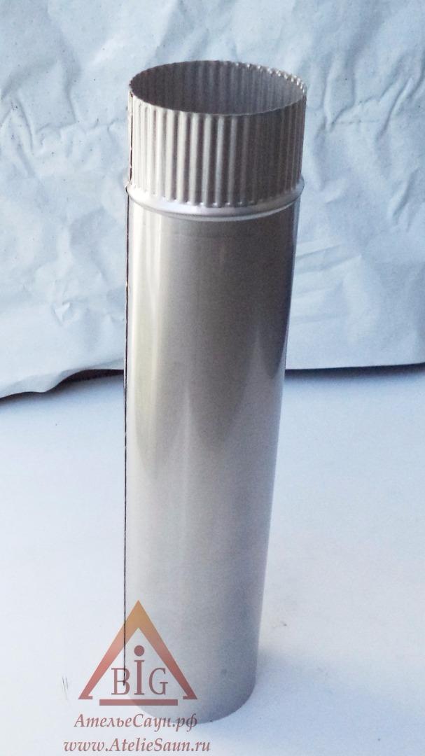 Труба голая D120 мм L = 0,5 м (нерж. 0,5 мм AISI 304)