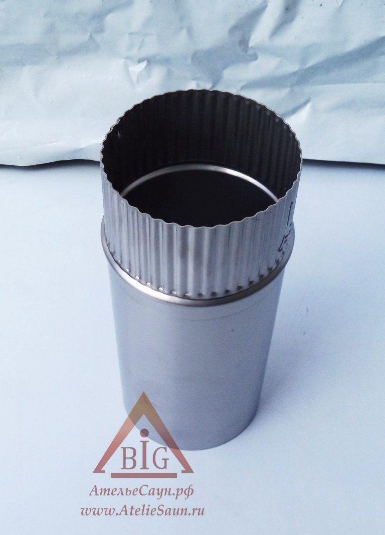 Труба голая D150 мм L = 0,25 м (нерж. 0,8 мм AISI 304)