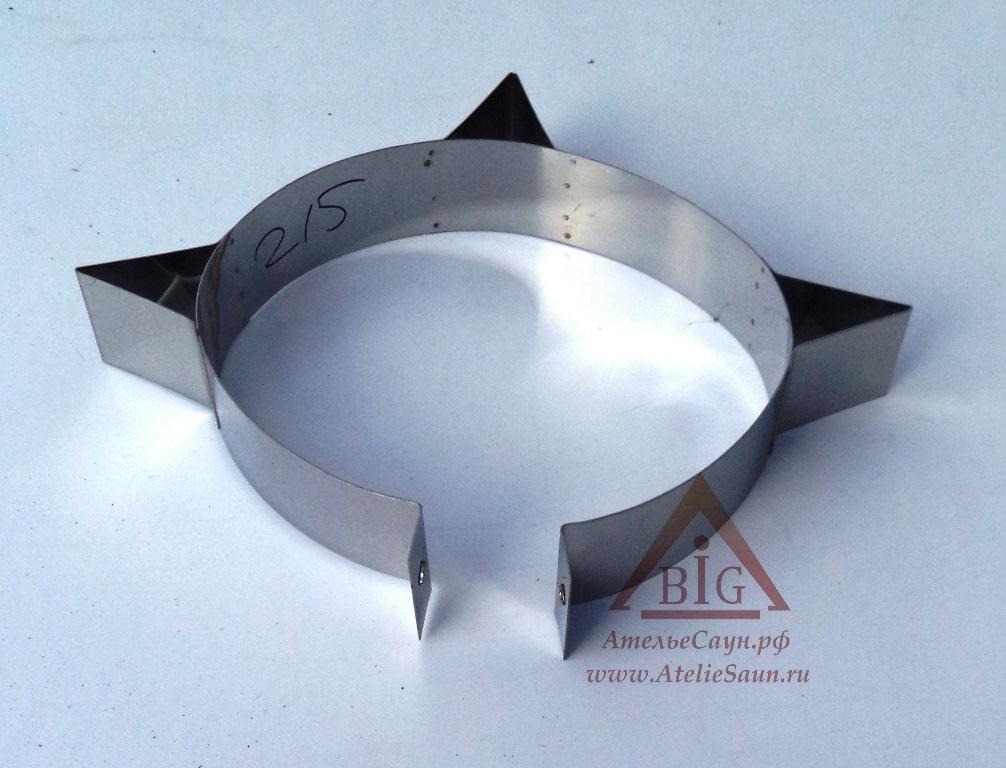 Хомут узкий усиленный D250 мм (нерж. 0,5 AISI 430)