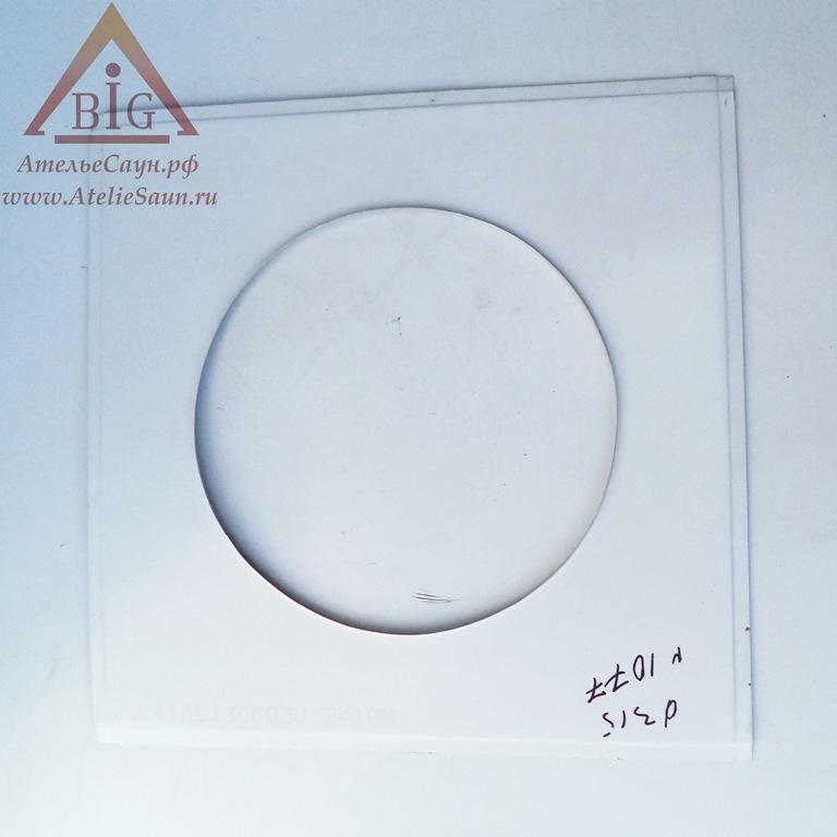 Фланец D350 мм (500х500 мм, нерж. 0,5 мм)