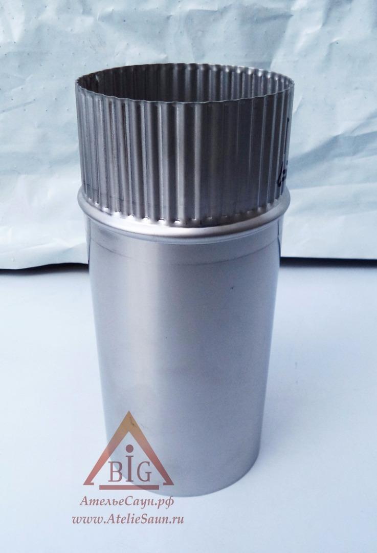 Труба голая D150 мм L = 0,25 м (нерж. 0,5 мм AISI 304)