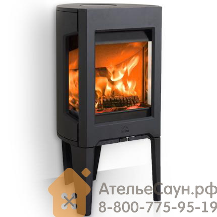 Печь камин Jotul F 163 CB BP (чугунная печь, чёрная, экономия дров, закрытая камера горения)