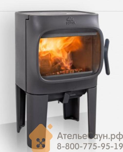 Печь камин Jotul F 105 R LL BP (чугунная печь, чёрная, экономия дров, закрытая камера горения)