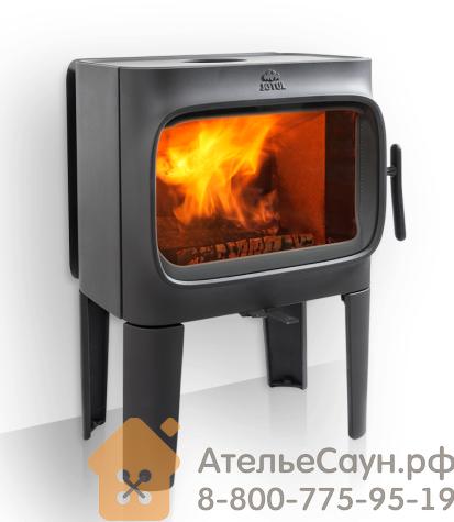 Печь камин Jotul F 305 R LL BP (чугунная печь, чёрная, экономия дров, закрытая камера горения)