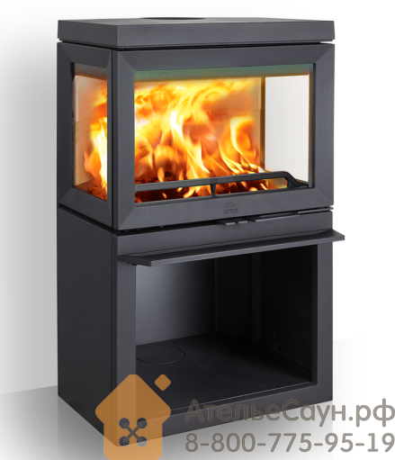 Печь камин Jotul F 520 BP (чугунная печь, чёрная, экономия дров, закрытая камера горения)