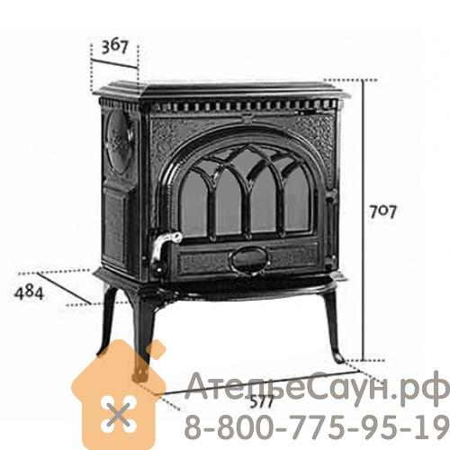 Печь камин Jotul F 3 TD BRM (чугунная печь, коричневая)