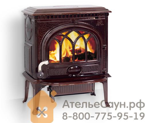 Печь камин Jotul F 3 CB BRM (чугунная печь, коричневая, экономия дров)