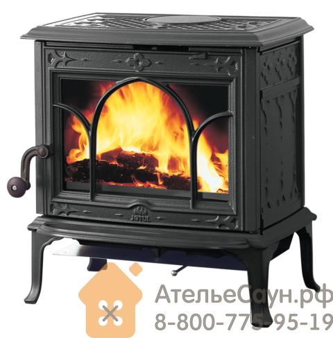 Печь камин Jotul F 100 SE BP (чугунная печь, Special Edition, чёрная, экономия дров)