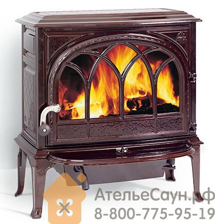 Печь камин Jotul F 400 CB BRM (чугунная печь, коричневая, экономия дров, закрытая камера горения)