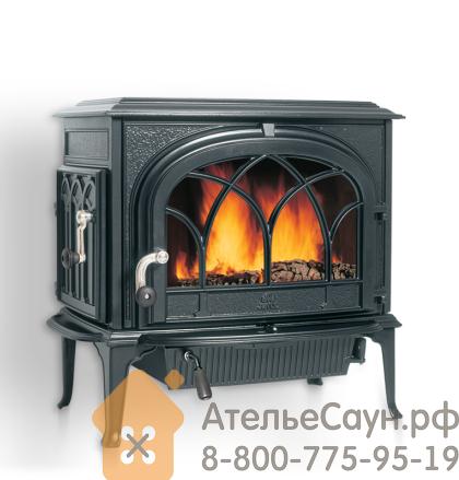 Печь камин Jotul F 500 CB BP (чугунная печь, чёрная, экономия дров, закрытая камера горения)