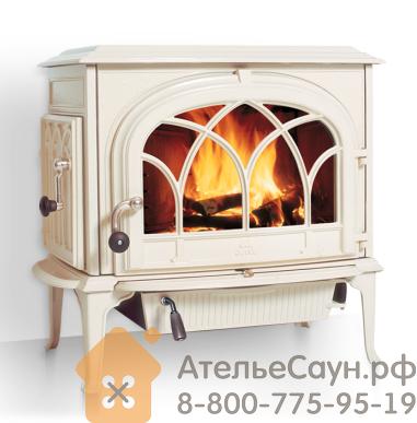 Печь камин Jotul F 500 CB IVE (чугунная печь, эмаль слоновая кость, экономия дров, закрытая камера горения)