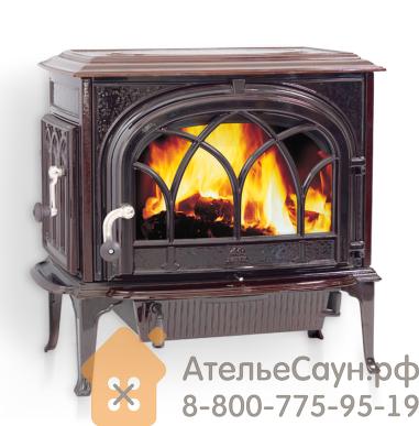 Печь камин Jotul F 500 CB BRM (чугунная печь, коричневая, экономия дров, закрытая камера горения)