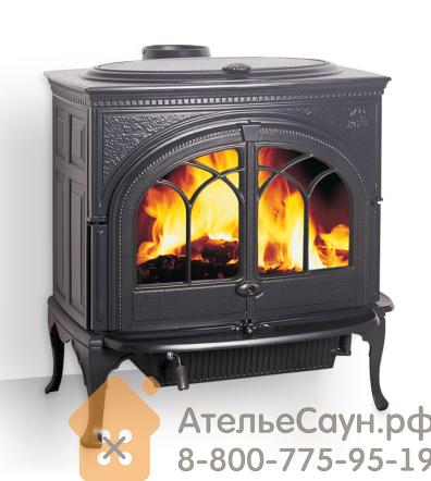 Печь камин Jotul F 600 CB BP (чугунная печь, чёрная, экономия дров, закрытая камера горения)