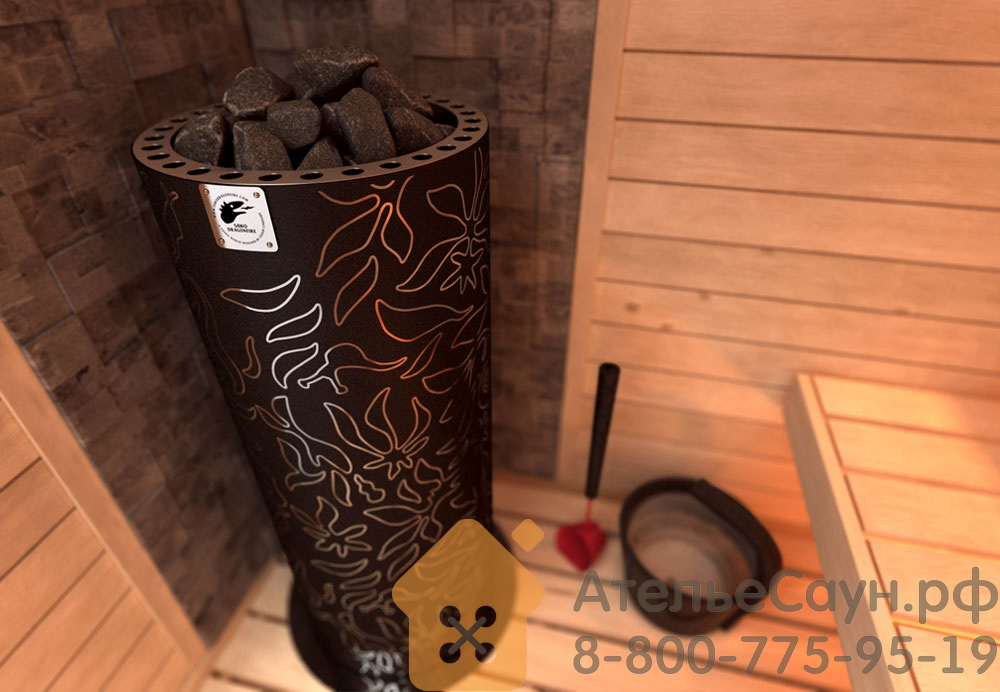 Печь Sawo Dradonfire FiberJungle DRF3-75NS-P (дизайнерская, без пульта, с термопокрытием)