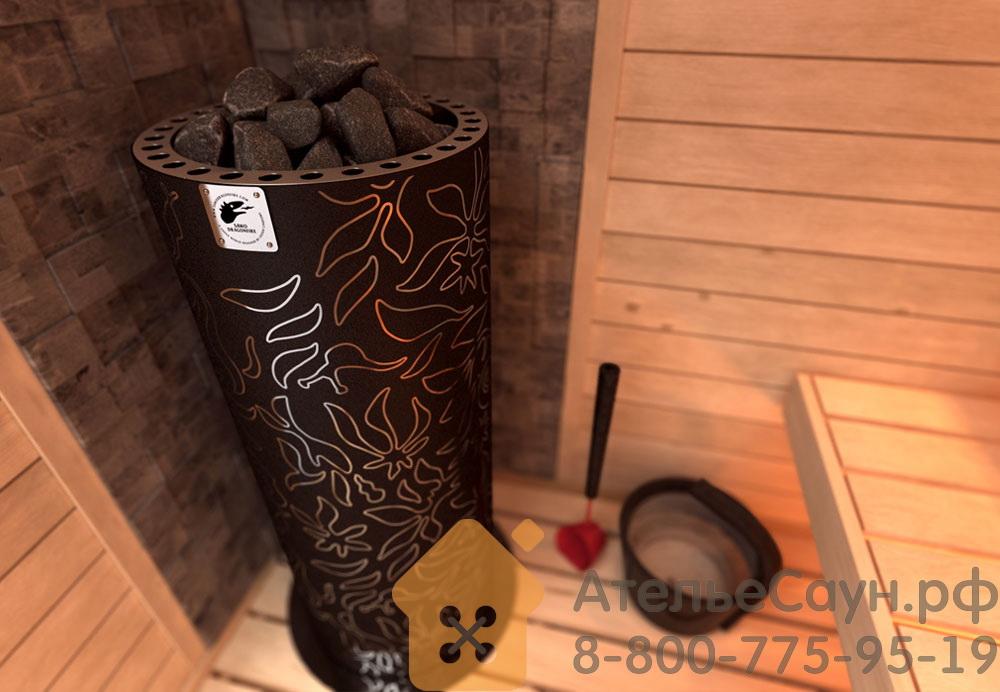 Печь Sawo Dradonfire FiberJungle DRF3-90NS-P (дизайнерская, без пульта, с термопокрытием)