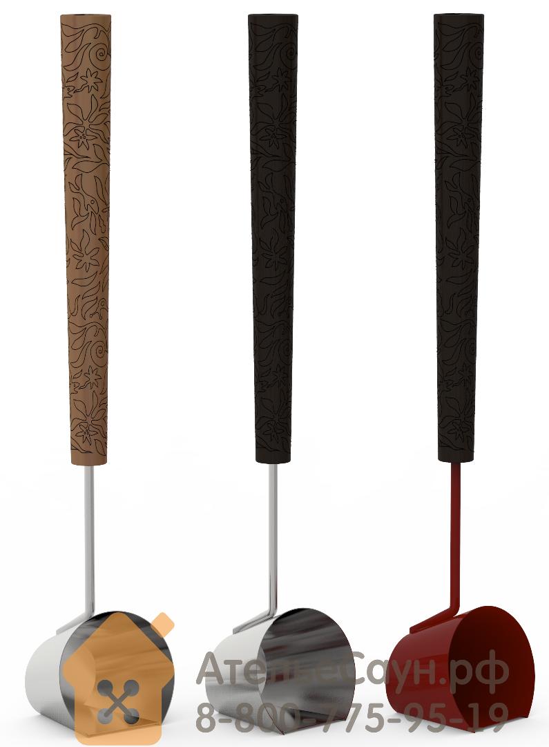 Черпак Dragonfire SteamShot 449-BL2-DRF (красный ковш, черная ручка, ставится на пол)