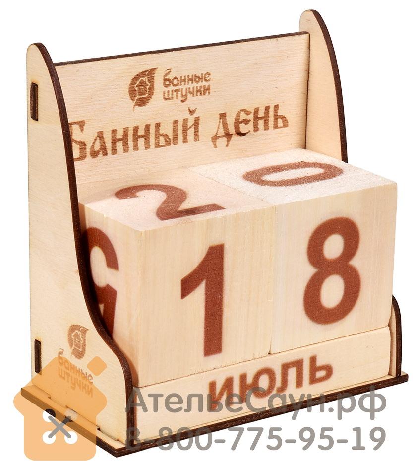 Календарь Банный день (деревянный, 11х6х11 см, арт. БШ 32314)