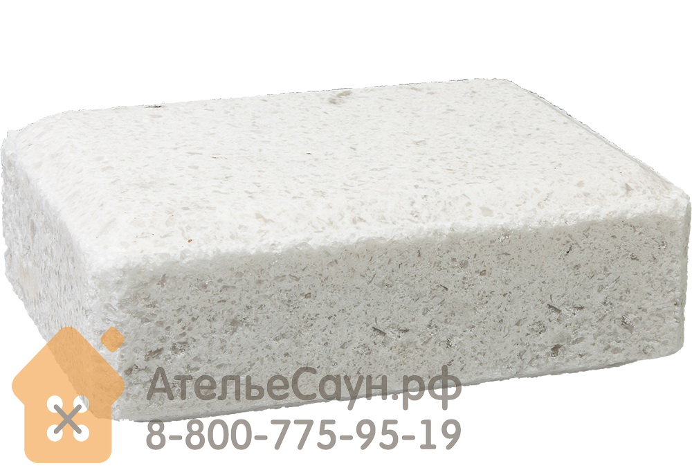 Соляной брикет для бани и сауны (14,5х10,5х5 см, 1300 г, арт. БШ 32400)