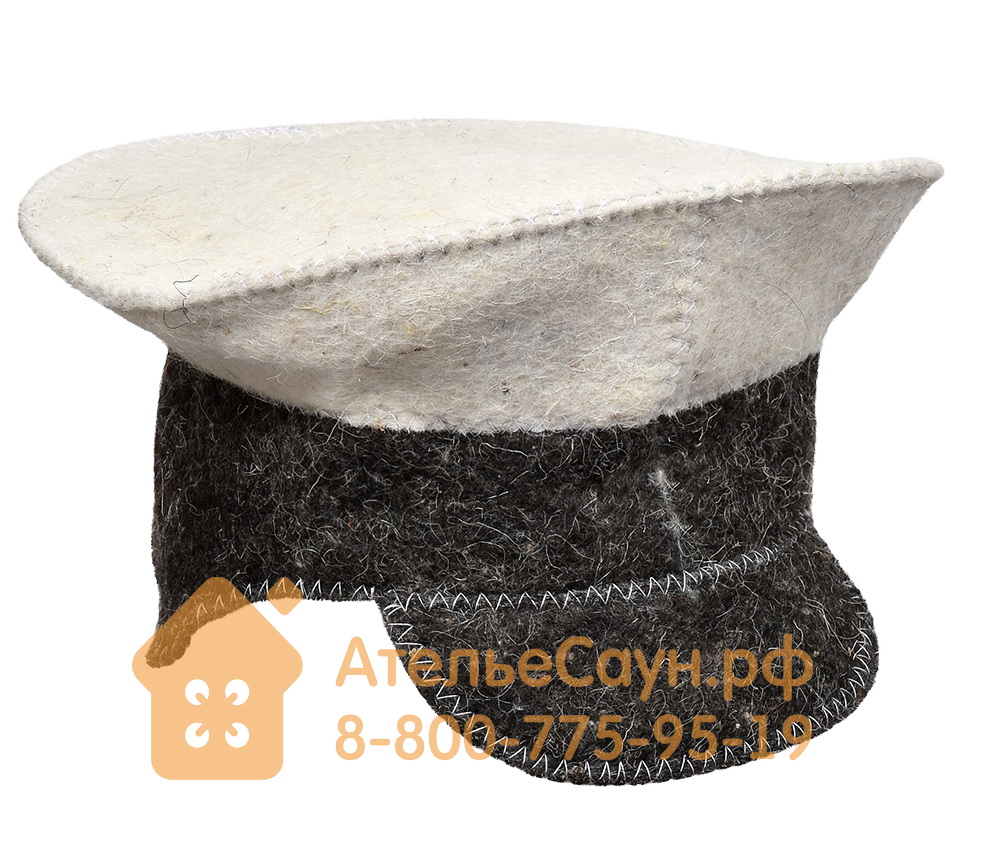 Шапка для бани Нot Pot Фуражка комби (войлок 100%, арт. БШ 41205)