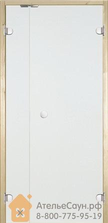 Дверь для сауны Harvia 7х19 (с дополнительной секцией 2х19, стеклянная, прозрачная, коробка осина), DV9104H