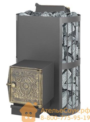Печь для бани Везувий Скиф с закрытой каменкой ВЧ (выносная топка, чугунная дверца без стекла)