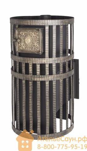 Печь для бани Везувий Русский пар Камин (выносная топка, чугунная дверца 205 со стеклом)