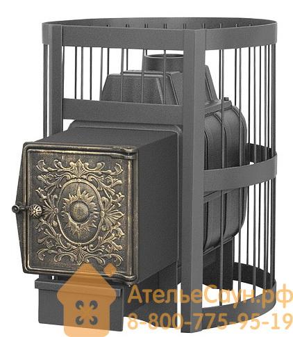 Печь для бани Везувий Легенда Стандарт 16 ДТ-4 (топка с выносом, дверца чугунная)