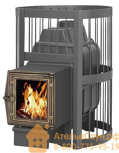 Печь для бани Везувий Легенда Стандарт 28 ДТ-4С (выносная топка, чугунная дверца со стеклом)