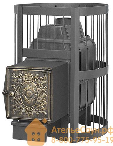 Печь для бани Везувий Легенда Стандарт 28 ДТ-4 (выносная топка, чугунная дверца без стекла)