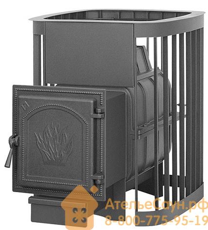 Печь для бани Везувий Легенда Люкс 16 ДТ-4 (с выносной топкой, чугунная дверца без стекла)