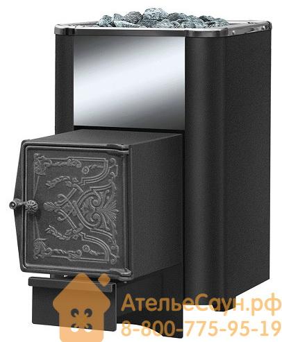 Печь для бани Везувий Сенсация 16 Антрацит  ДТ-4 (выносная топка, чугунная дверца)