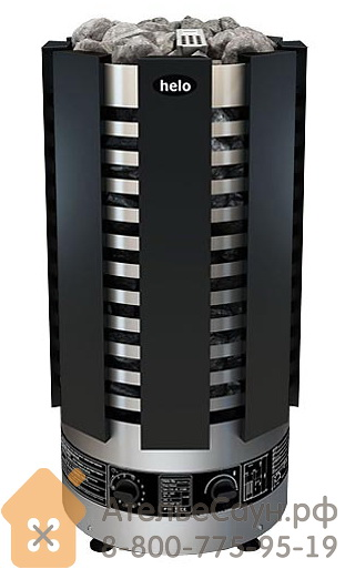 Печь для сауны Helo Ringo Robust 80 STJ BWT Black (черная, с парогенератором)
