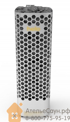 Электрокаменка Helo HIMALAYA 90 DE BWT Steel (сетка, пульт MIDI в комплекте, с парогенератором, нерж. сталь)