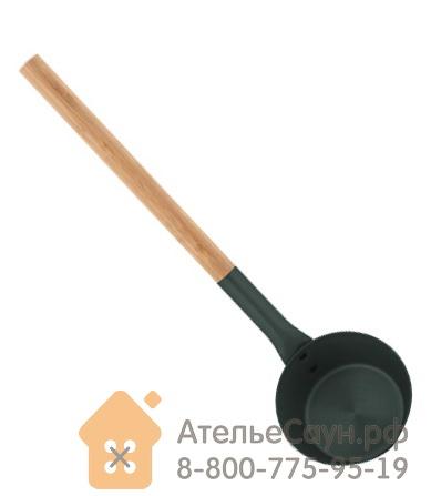 Алюминиевый черпак для сауны Tammer-Tukku Rento с бамбуковой ручкой (малахит, арт. 276432)