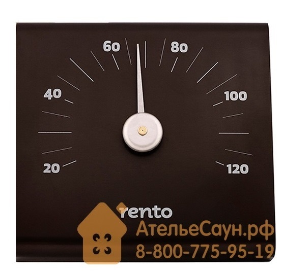 Термометр для сауны Tammer-Tukku Rento алюминиевый (какао, арт. 223829)