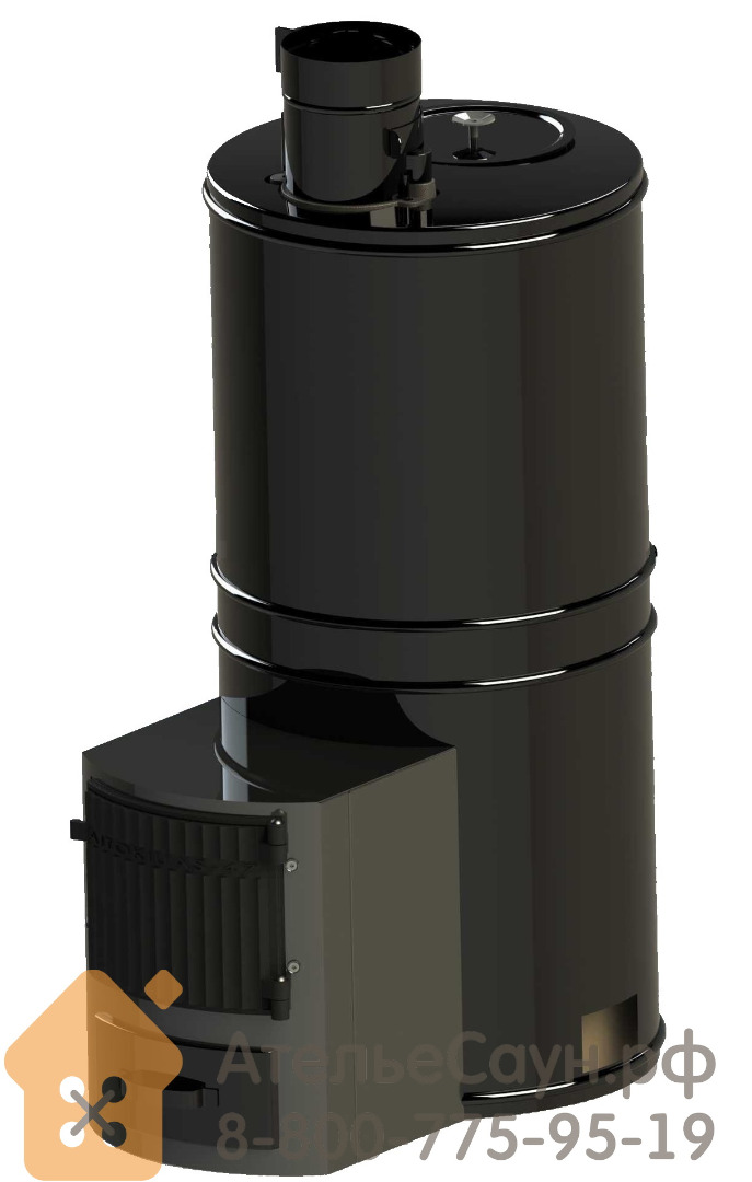 Дровяная каменка Aito AK-47 JK для русской бани c выносной топкой (с керамическими камнями, арт. 2210+2210ST+5524K)