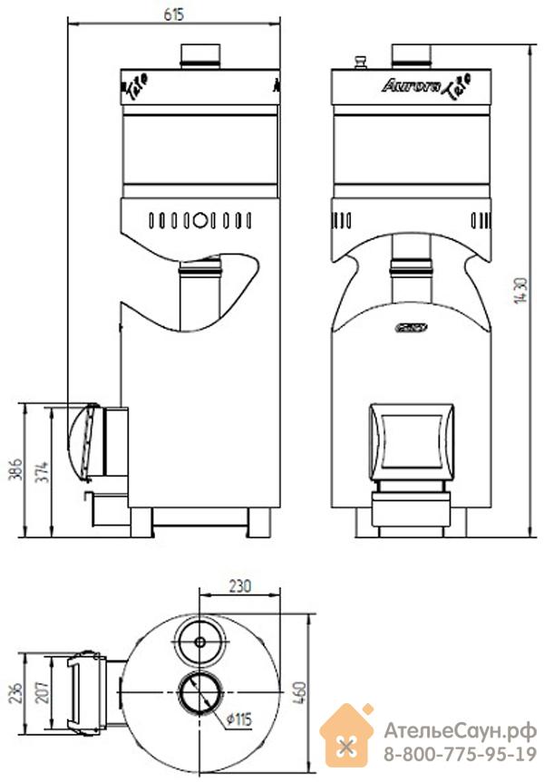 Печь для бани Grill D TRIO Aurora 160 (Short black)