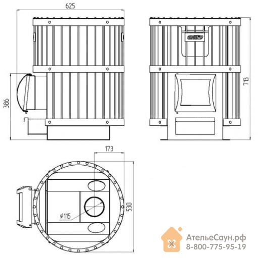 Печь для бани Grill D Leo 130 (Short grey)