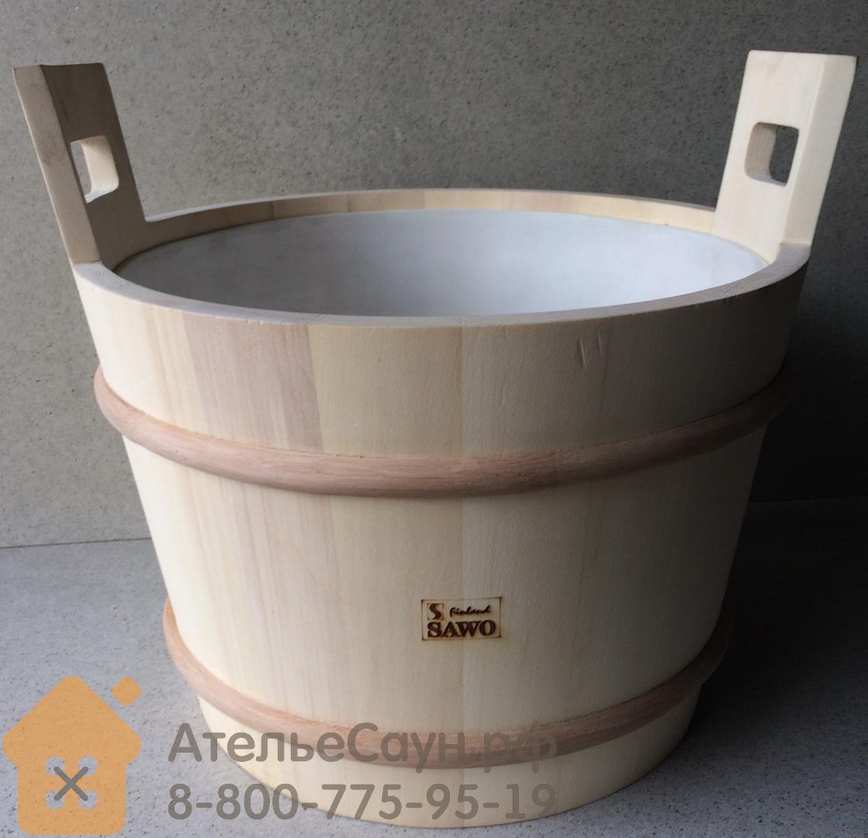 Запарник Sawo 391-A (28 л, осина, с пластиковой вставкой, без крышки)