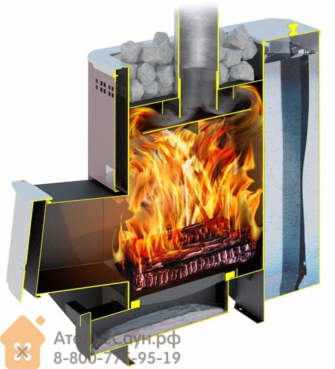 Дровяная печь теплодар в сборе с дымоходом и баком котел газовый buderus дымоход