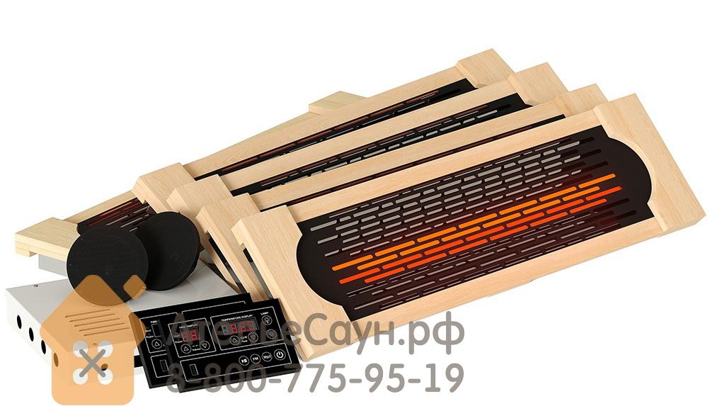 Комплект ИК-излучателей SteamTec TOLO B1 (5 керамических инфракрасных излучателей с рамками из кедра, пульт, акустика USB/MP3 с динамиками)