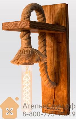 Светильник WoodSon Лофт из дуба (для предбанника и других помещений)