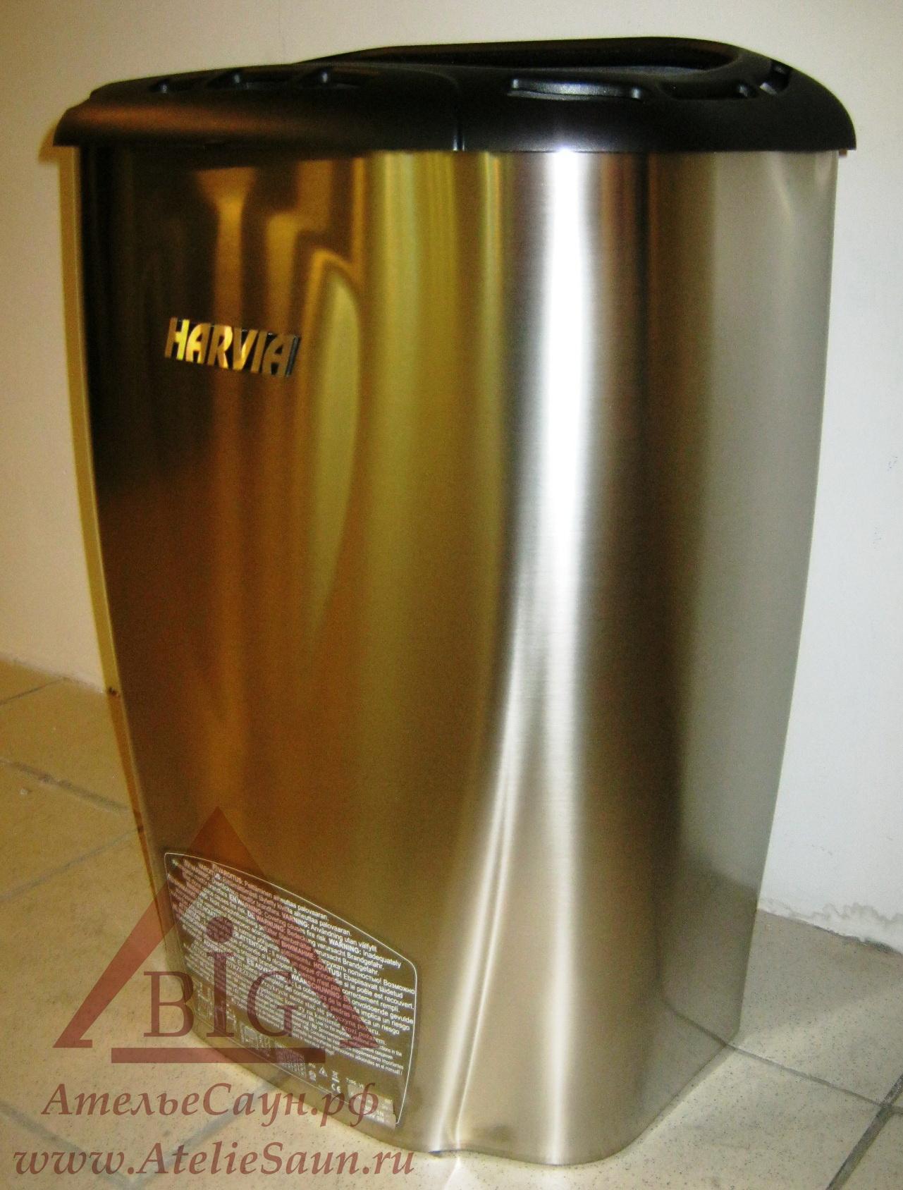 Электрокаменка Harvia Moderna V 60 E-1 Titanium (с выносным пультом)